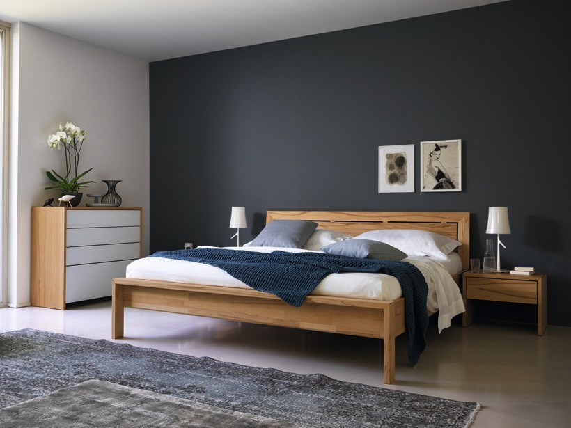Solid wood double bed LUNETTO | Double bed - TEAM 7 Natürlich Wohnen