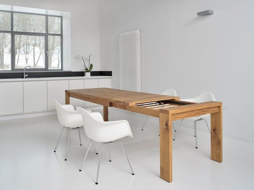 Tavolo allungabile in legno massello lungo vitamin design for Tisch lungo vitamin design
