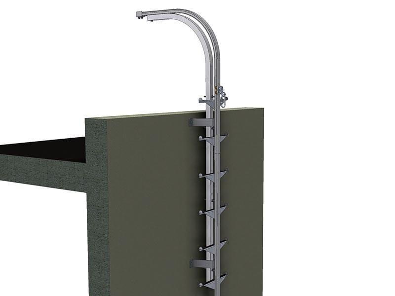 Stainless steel heavy duty ladder LUX-top FSA 2010 - L - Riwega