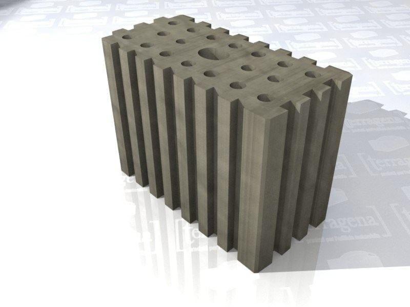 Hollow-core clay slab for facade LaterActive - Terragena