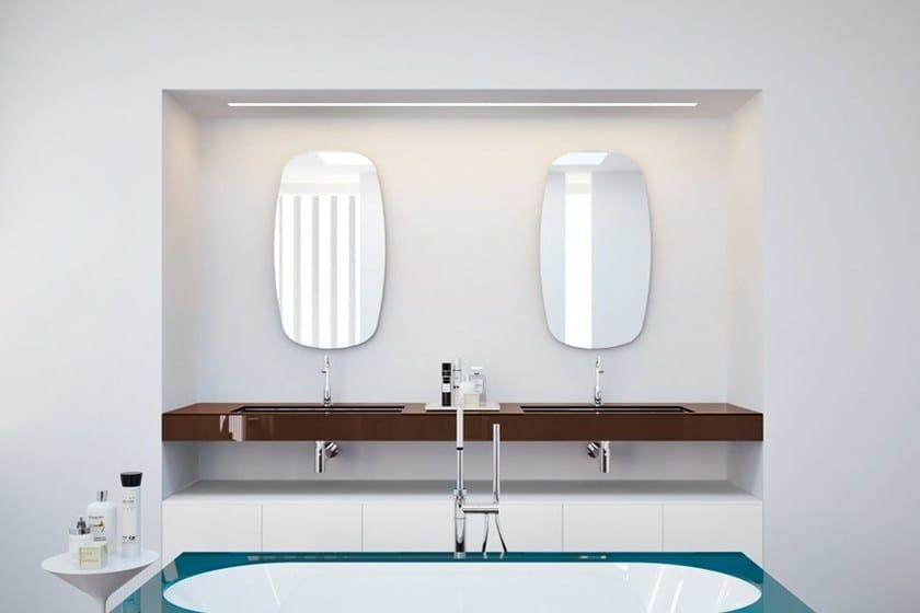 Espejo para ba o lens mirror by makro dise o marco taietta for Makro muebles jardin
