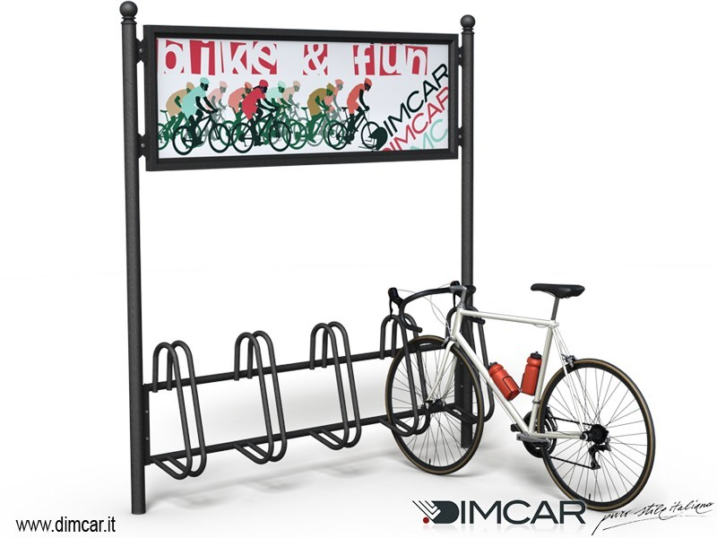 Metal Bicycle rack Portabici Liberty Display - DIMCAR
