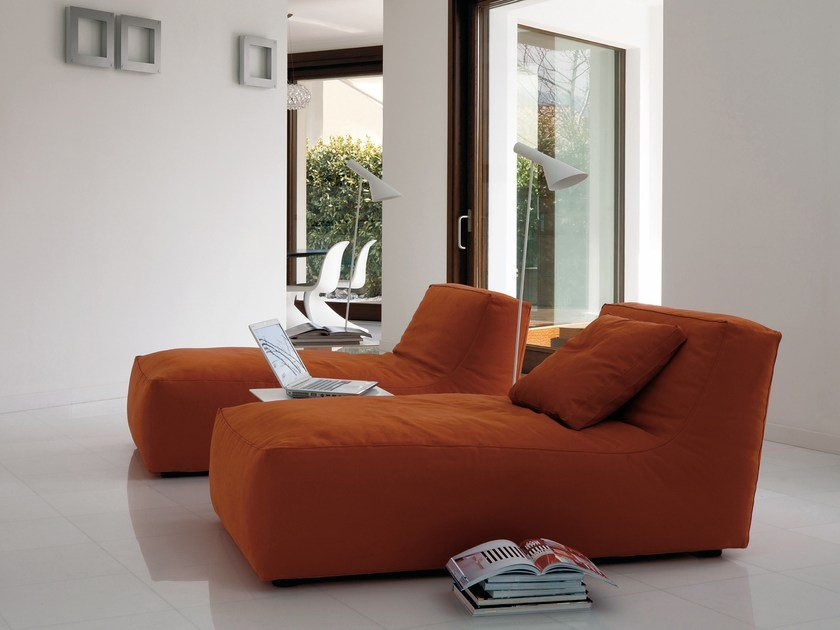 With removable cover fabric lounge chair NOE | Lounge chair by Verzelloni