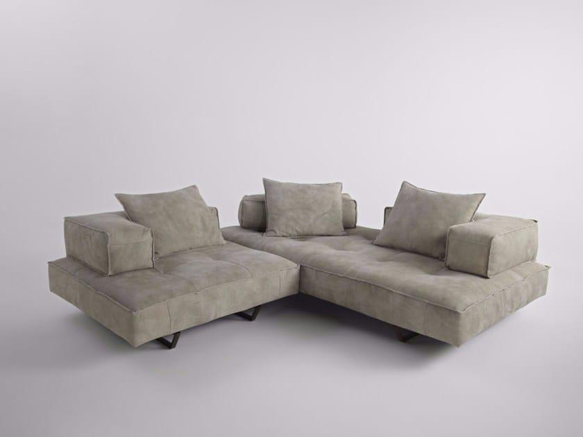Sled base corner sectional Nabuk sofa M1 | Corner sofa - ALBEDO S.r.l. Unipersonale