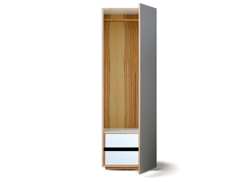 Lacquered wooden wardrobe with 1 door M7800 by MINT FACTORY