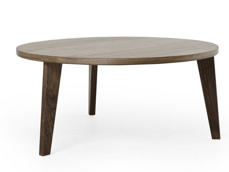Round wooden coffee table COFFEE TABLE HIGH - MINT FACTORY