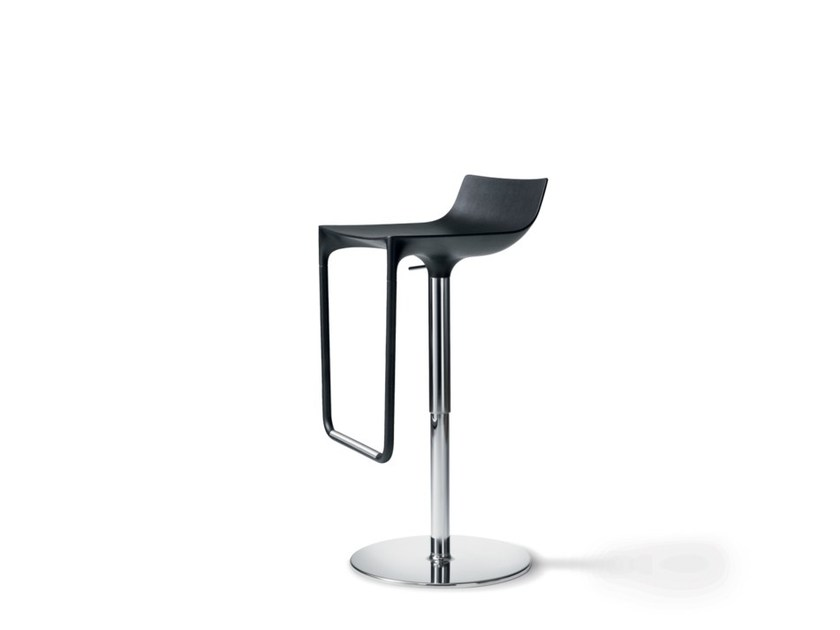 Height-adjustable polyurethane barstool with footrest MACAO | Barstool by Wiesner-Hager