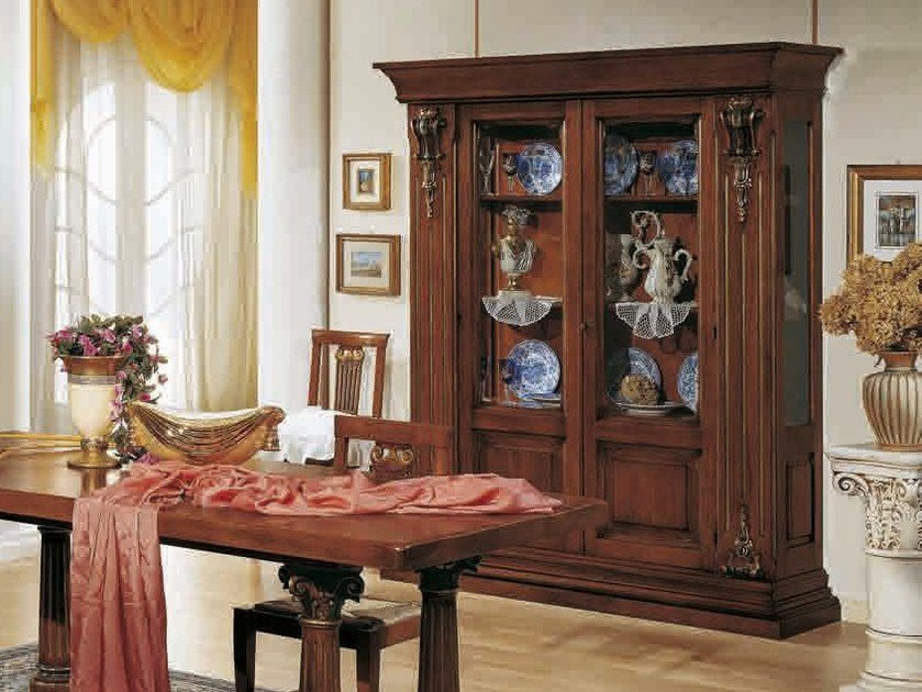 Solid wood display cabinet MACCHIAVELLI | Wooden display cabinet by Arvestyle