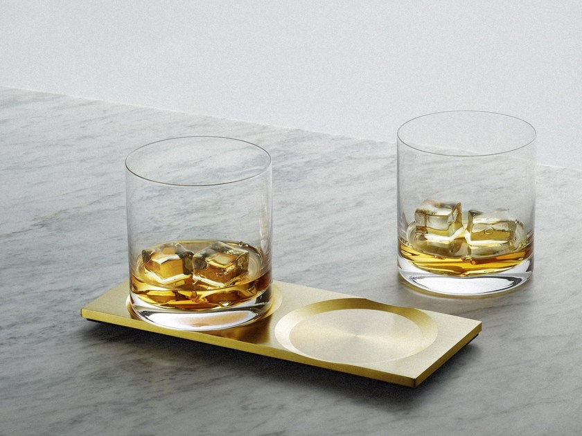 Drink coaster Whisky - Brass by Buster + Punch