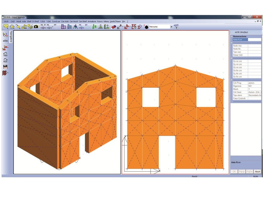 Masonry and mixed construction calculation MACRO MURI 3D by STS