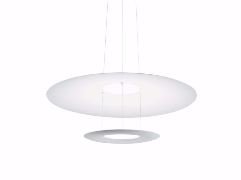 Adjustable aluminium pendant lamp MADAME BLANCHE_P1 - Linea Light Group