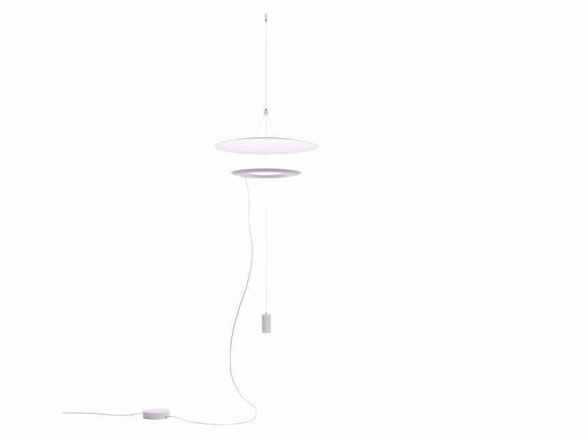 Adjustable aluminium pendant lamp MADAME BLANCHE_P2 by Linea Light Group