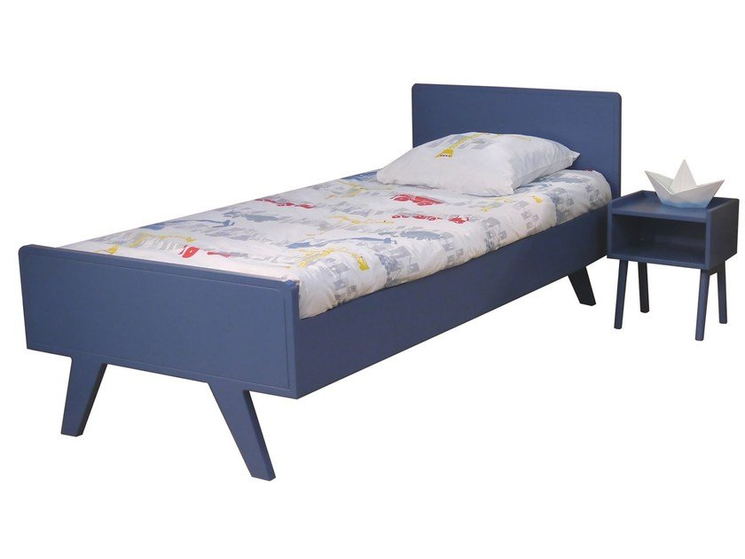 MDF single bed for kids' bedroom MADAVIN | Bed - Mathy by Bols