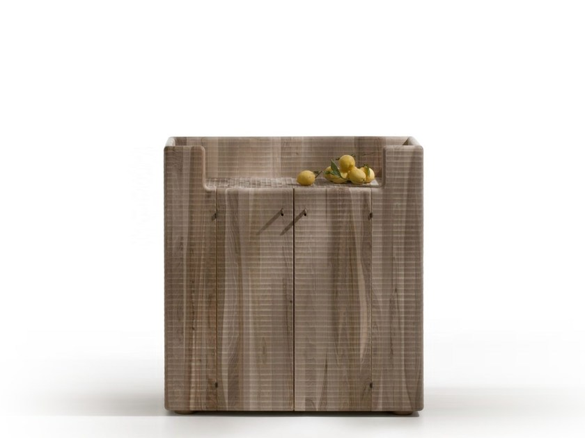 Walnut highboard with doors MADIA DEL PANE - HABITO by Giuseppe Rivadossi