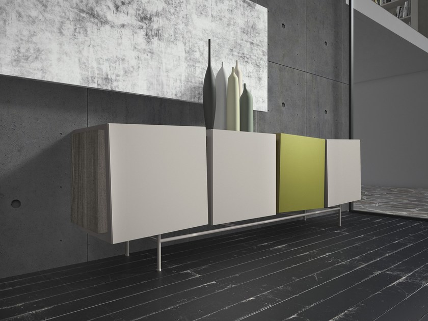 Lacquered sideboard FLOW by Presotto