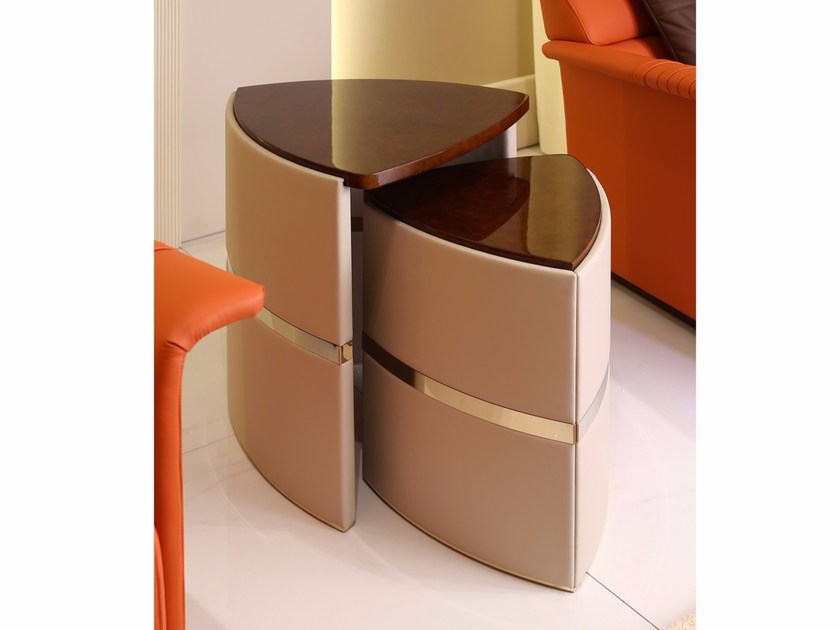 Lacquered triangular side table MADISON | Side table by Turri