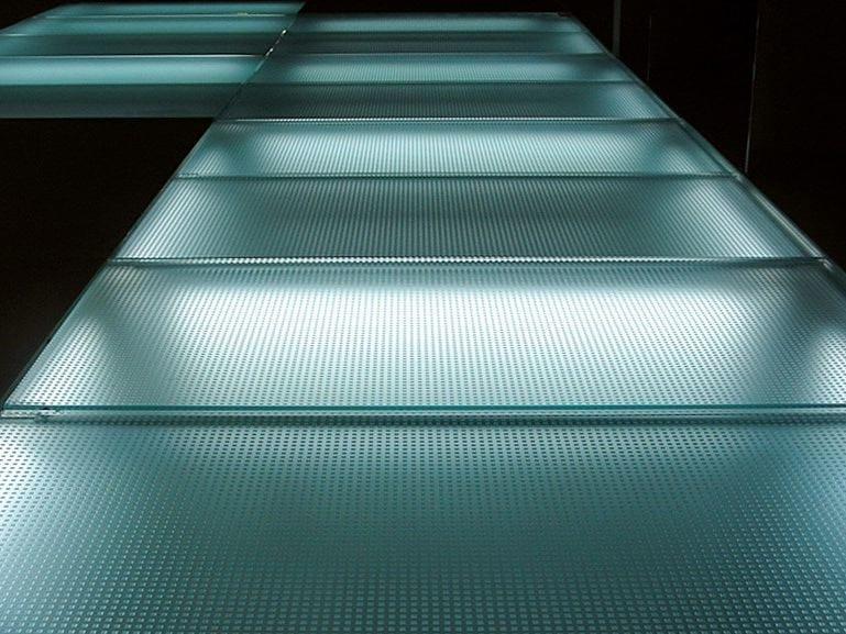 Anti-slip glass MADRAS® MATRIX FLOORING - Vitrealspecchi