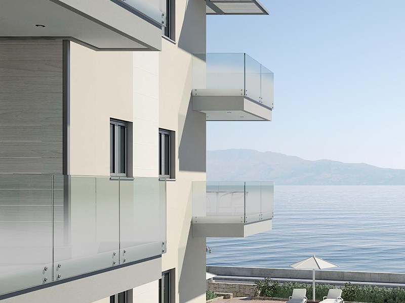 Gradient satin glass for parapets MADRAS® NUVOLA - Vitrealspecchi