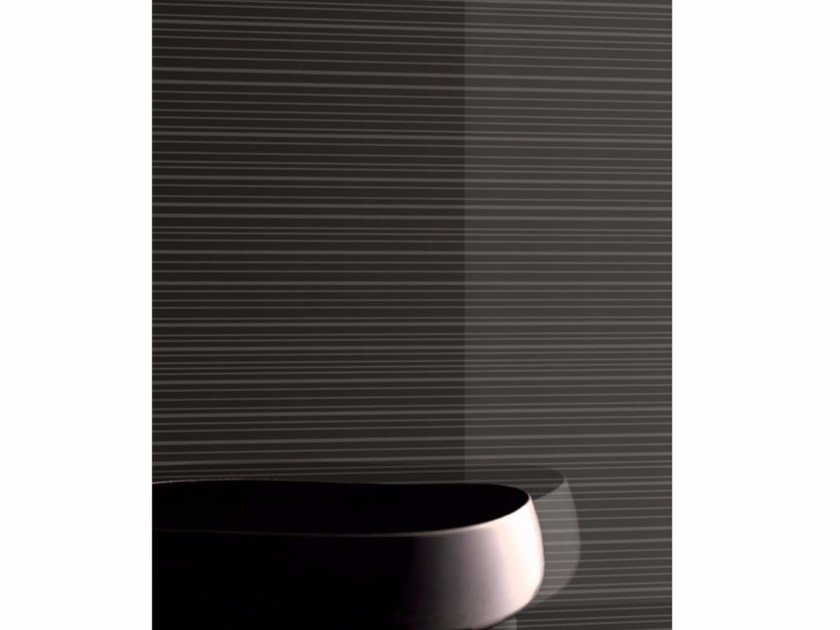 Decorated painted glass for interior finishing MADRAS® STRIP MATE' LAC by Vitrealspecchi