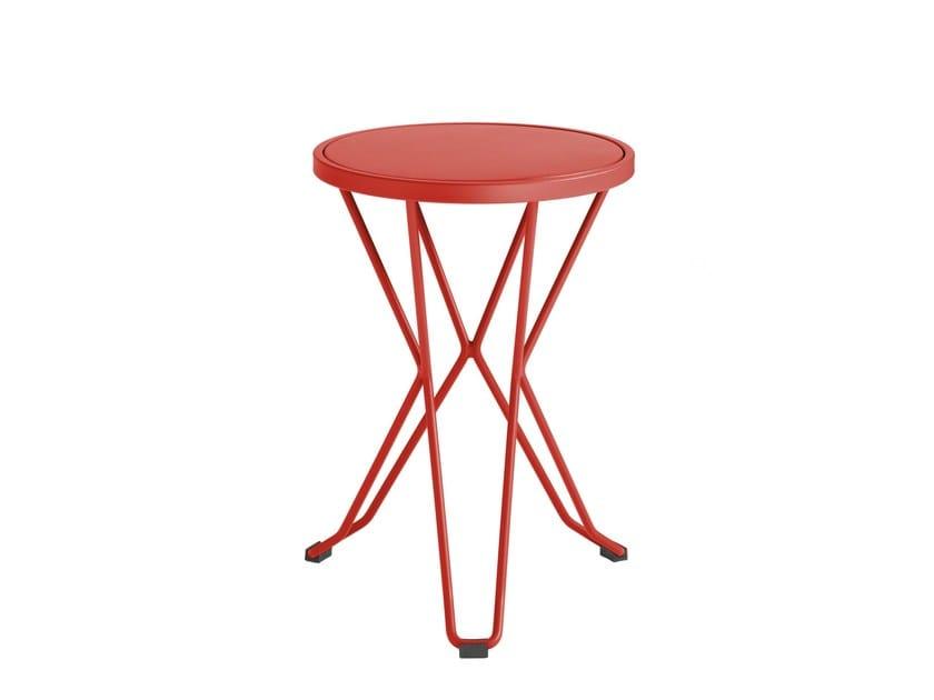Low galvanized steel garden stool MADRID | Low stool - iSimar