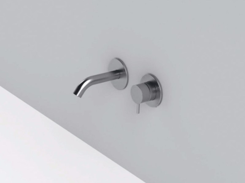 2 hole wall-mounted stainless steel washbasin mixer MAE   2 hole washbasin mixer by Rexa Design