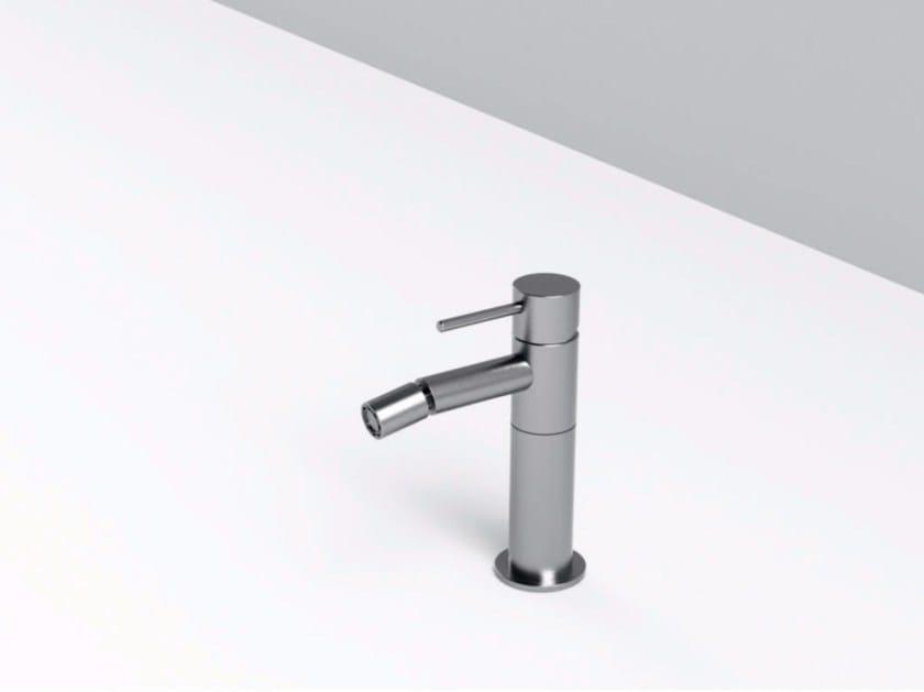 Countertop single handle stainless steel bidet mixer MAE | Bidet mixer by Rexa Design