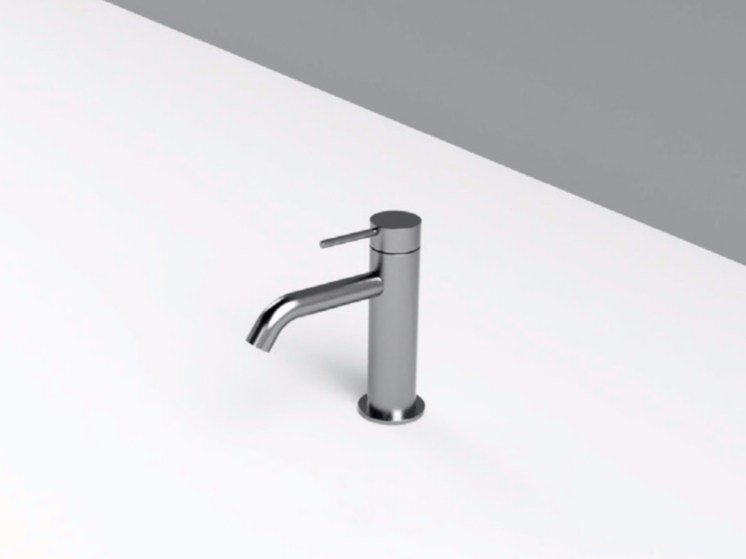 Countertop single handle stainless steel washbasin mixer MAE | Countertop washbasin mixer by Rexa Design