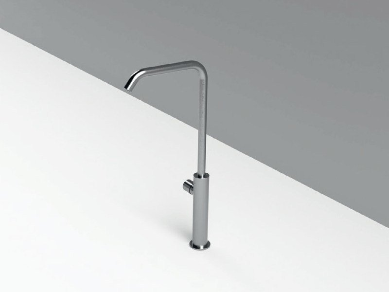 Countertop single handle stainless steel washbasin mixer with adjustable spout MAE | Washbasin mixer with adjustable spout by Rexa Design