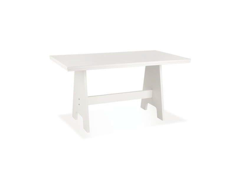 Rectangular wood veneer table MAEN - CREO Kitchens by Lube