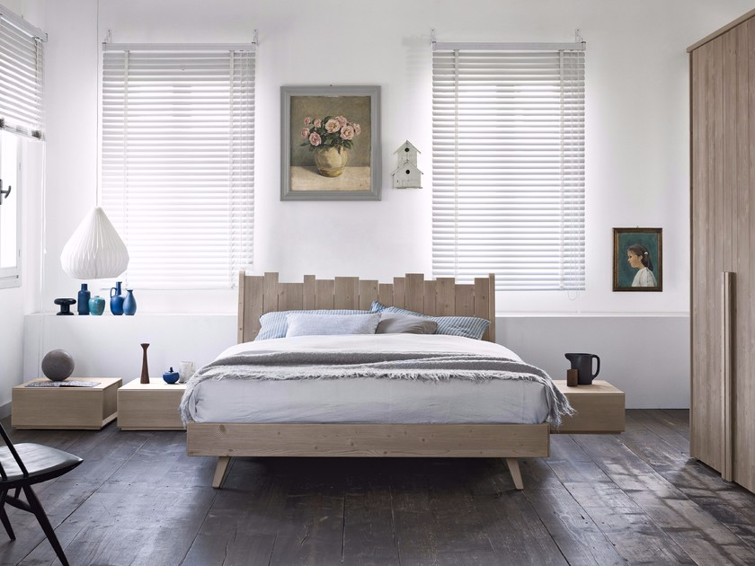 Solid wood bedroom set MAESTRALE M09 by Scandola Mobili
