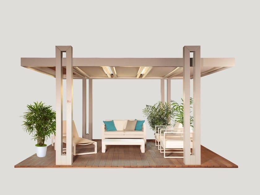 Laminated wood pergola MAESTRALE - Progettoelleci by Lo Castro