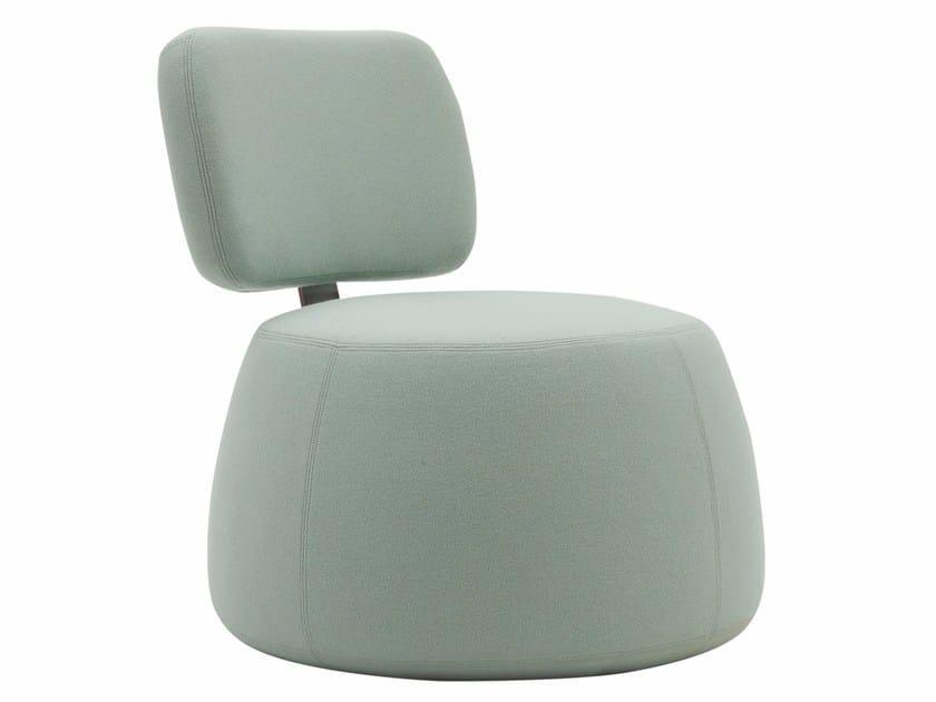 Fabric armchair MAG - SOFTLINE