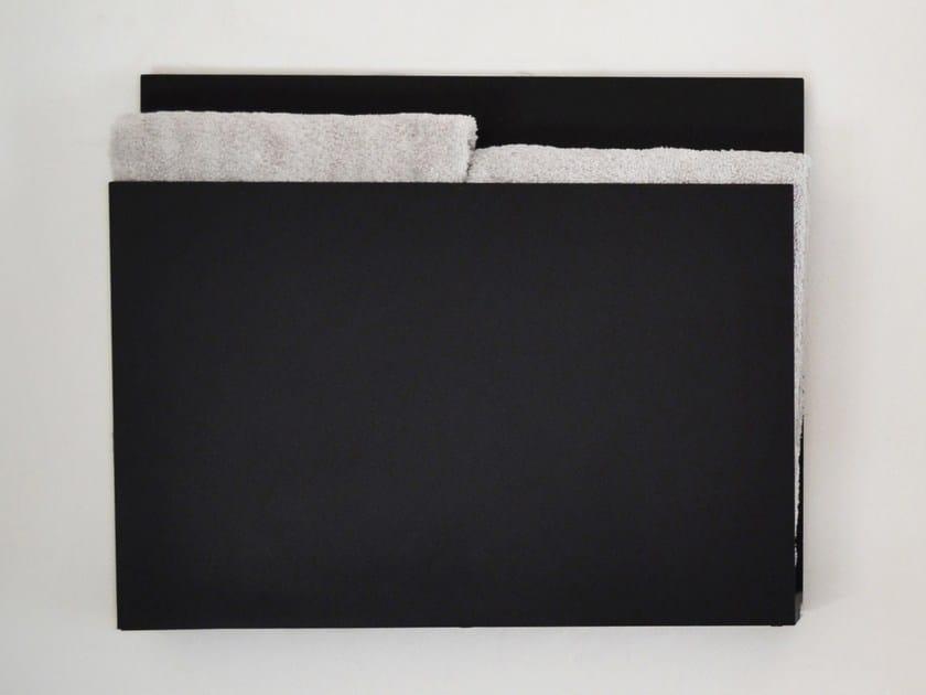 Wall-mounted electric aluminium towel warmer MAGAZINE BLACK by mg12