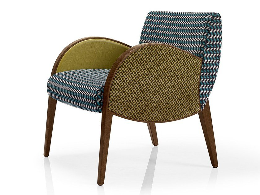 Fabric easy chair with armrests MAGEE | Easy chair by JMS