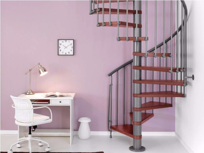 Steel and wood Spiral staircase MAGIA 70 - Fontanot Spa