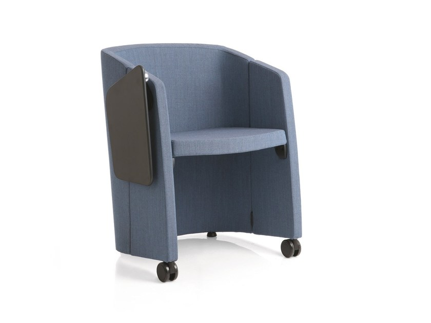Fabric easy chair / auditorium seats MAGIC | Folding easy chair by Emmegi
