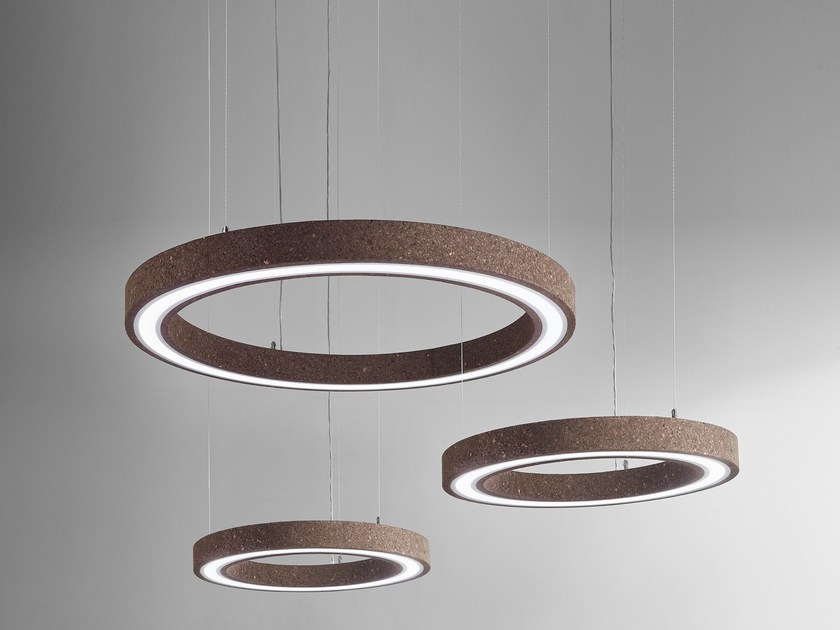 Direct light cork pendant lamp MAGIC ROUND by Exporlux