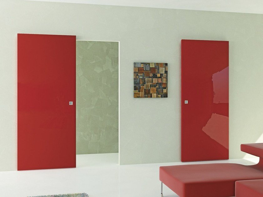 Lacquered sliding door MAGIC SLIDE by Pail Serramenti