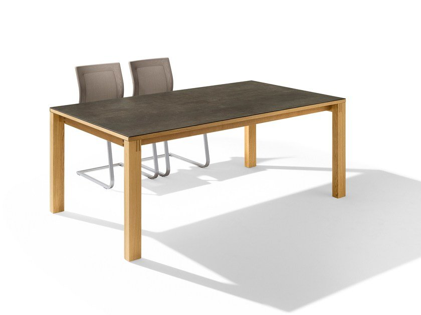Extending rectangular solid wood table MAGNUM | Extending table - TEAM 7 Natürlich Wohnen