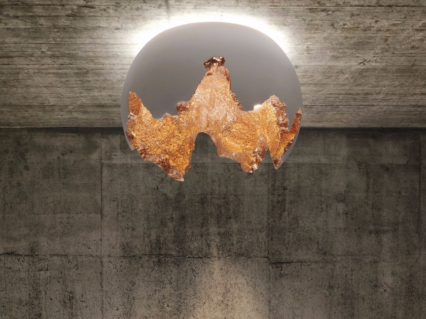 LED handmade polystyrene ceiling lamp MAIA | Ceiling lamp by Bodema