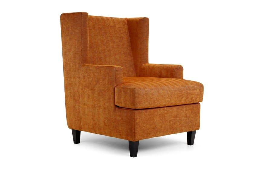 Upholstered fabric armchair with armrests MAIDIN | Armchair - Domingo Salotti