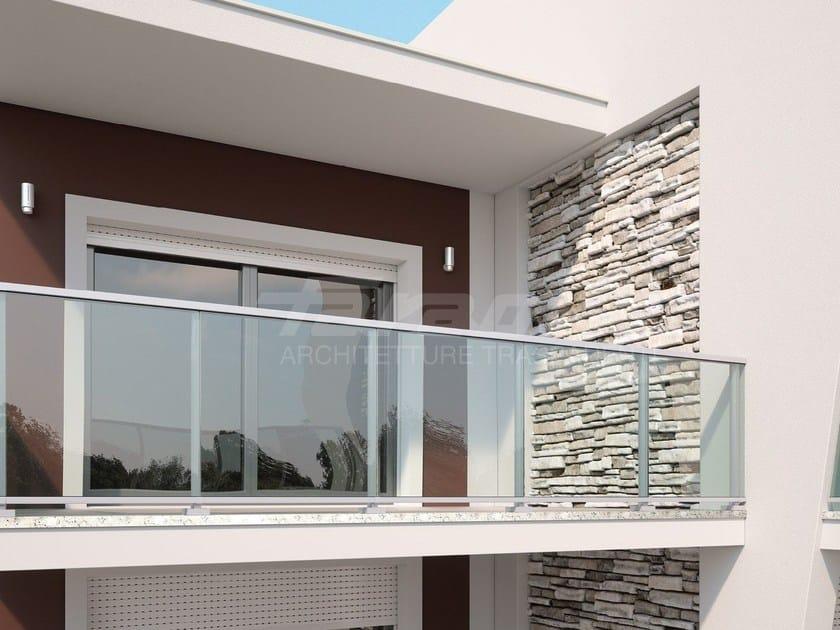 Parapetto in alluminio e vetro maior colors one faraone - Altezza parapetti finestre normativa ...