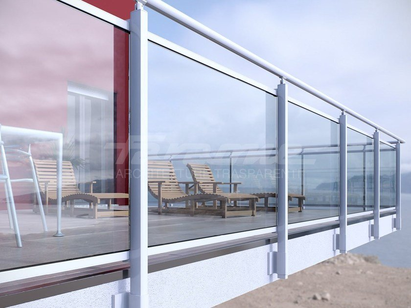 Glass and aluminium balustrade MAIOR COLORS PLUS - FARAONE