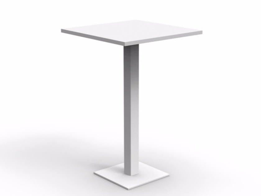 Square aluminium high table MAIORCA | High table - Talenti