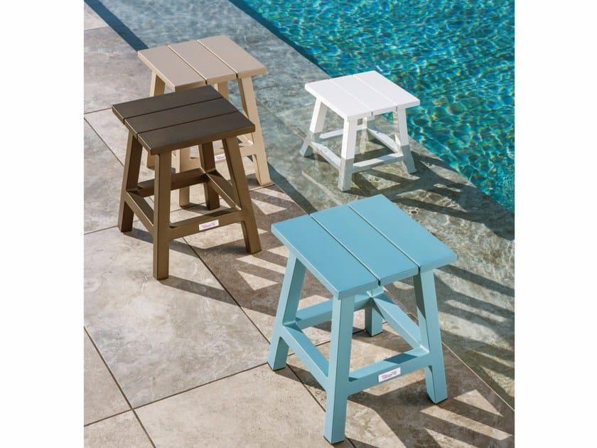 Aluminium garden stool MAIORCA | Stool - Talenti