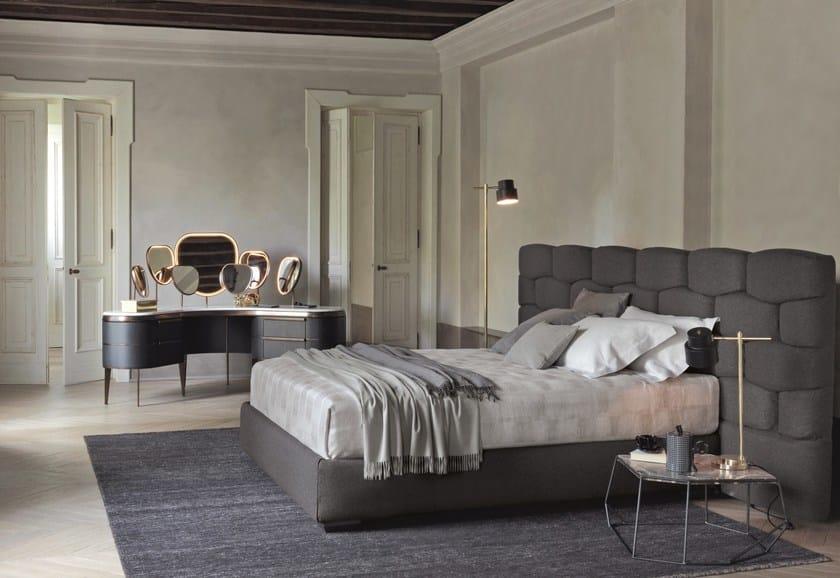 majal bed with upholstered headboard by flou design. Black Bedroom Furniture Sets. Home Design Ideas
