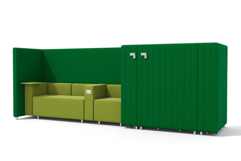 Sectional modular high-back sofa MAJI SISTEMA3 | Sectional sofa by Adrenalina