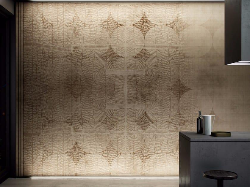 Geometric washable vinyl wallpaper MAKAMBO - GLAMORA