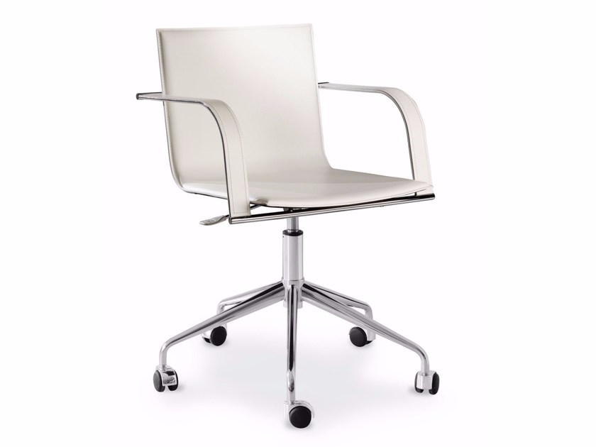 Height-adjustable task chair with 5-Spoke base with armrests MALENA | Task chair - ITALY DREAM DESIGN - Kallisté