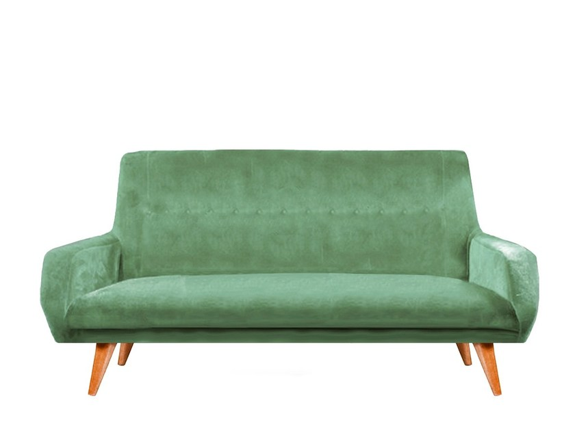 Upholstered velvet sofa MALIBU by Moanne